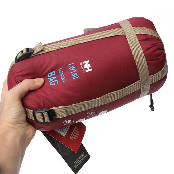 Naturehike NH15S003-D Outdoor Camping Sleeping Bag Ultralight Envelope Bag For Travel Hiking 1.9x0.75m