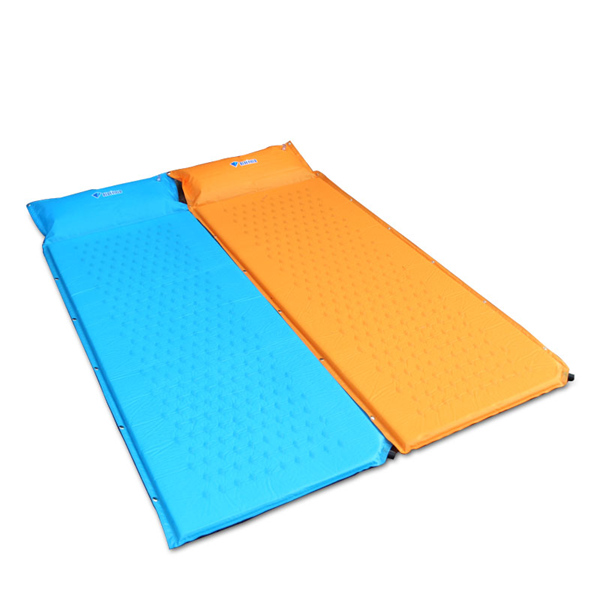 Bluefield Automatic Inflatable Air Mat Camping Moisture Proof Mattress Sleeping Pad With Pillow