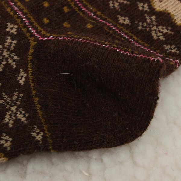 Womens Winter Christmas Snowflake Deer Design Wool Middle Tube Socks