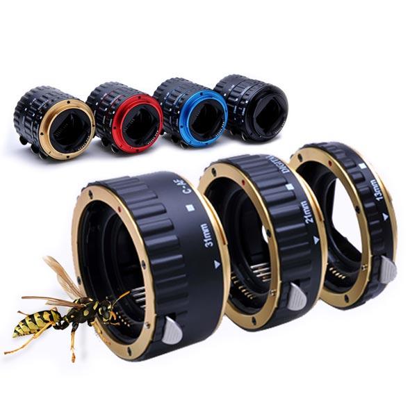 РазноцветноеметаллическоеAFмакро-расширениеТрубкаКольцо для Canon EOS EF EF-S