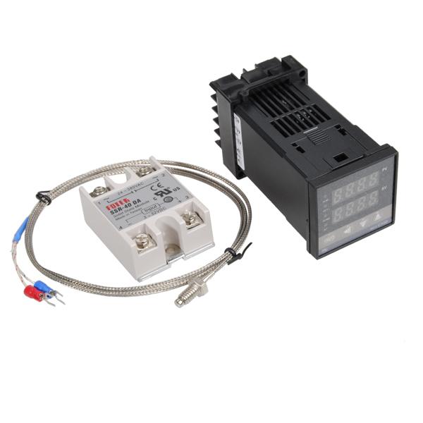 Excellway® REX-C100 110-240 В 1300 градусов Цифровой ПИД-регулятор температуры Набор с 400 градусов Зонд