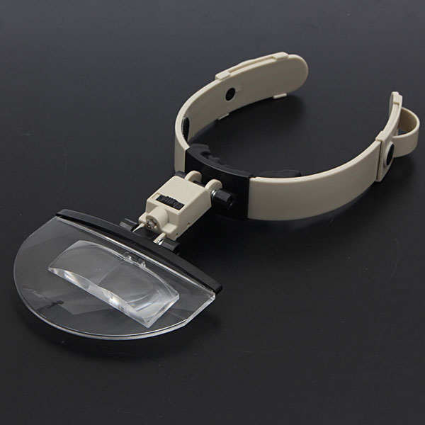 4 Lens Headband LED Head Light Magnifier Magnifying Glass Loupe