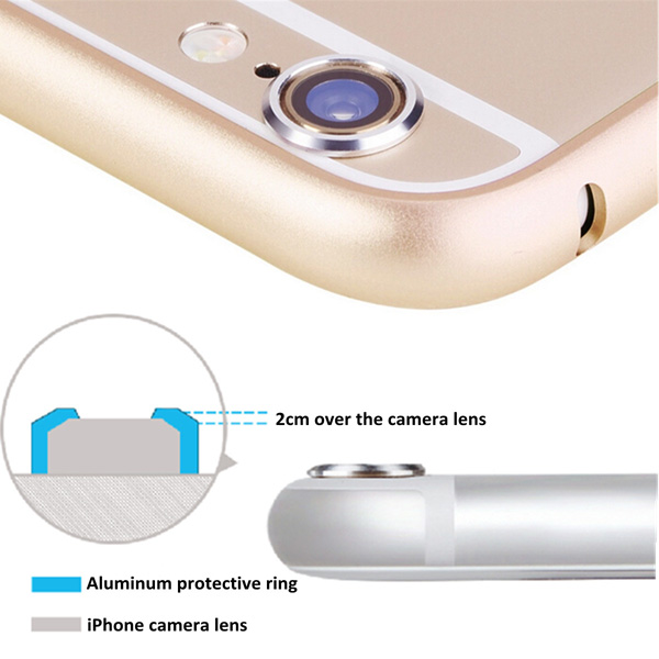 best website fdc1b c0b2f Rear Camera Lens Protector Metal Anti-scratch For iPhone 6 Plus 5.5