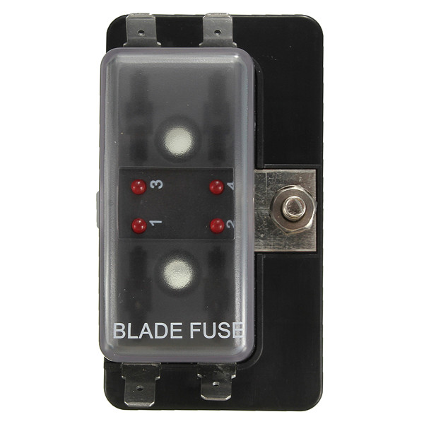 1 power in 4 way circuit fuse box blade fuse box led blown
