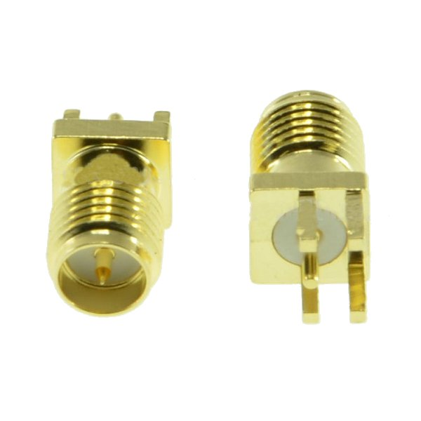 2pcs RP-SMA Female Adapter PCB EdgE-mount Solder RF Connector for RC Drone FPV Racing