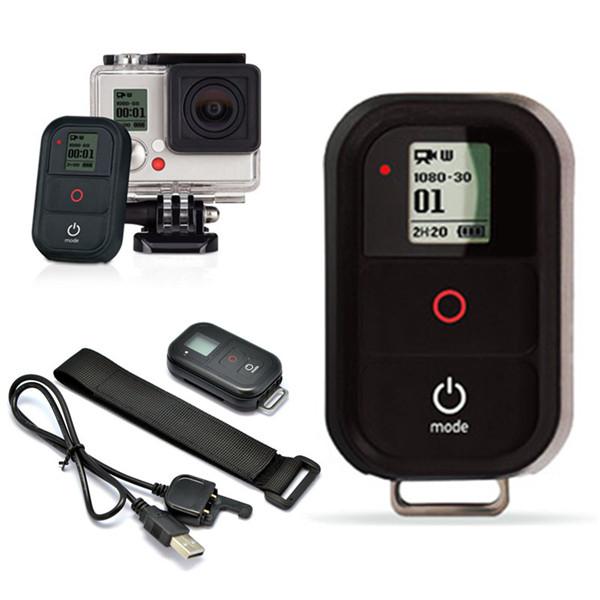 Беспроводной беспроводной пульт дистанционного управления затвором с зарядный кабель для GoPro герой