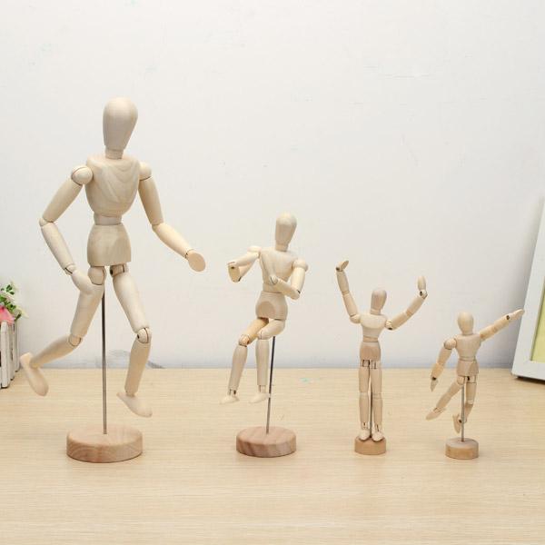 Деревянный шарнир Кукла Человек Цифры Модель Живопись Эскиз Мультфильм