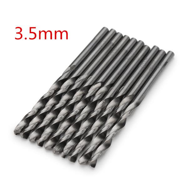 10шт 3.5 микро HSS Спиральные сверла цилиндрическим хвостовиком шнека бит для дрели электрической