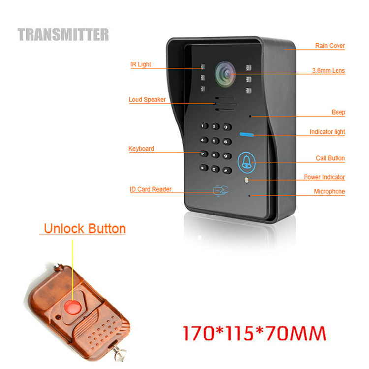 ENNIO SYWIFI002IDS WIFI Wireless Video Door Phone System with Card Unlock Function and Remote Wireless Control