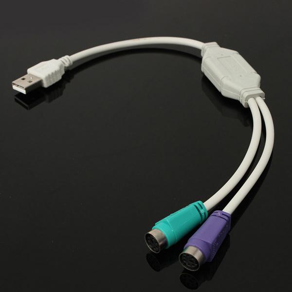 Мужчина USB к PS2 женский конвертер кабель-адаптер для использования с клавиатурой и мышью