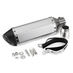 38mm-51mm Motorcycle Exhaust Muffler with Silencer Stainelss Steel Carbon Fiber Tip