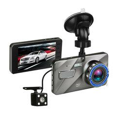 4 Inch HD 1080P Dual Lens Camera 170 Degree Car DVR Video Dash Cam Front Rear Recorder