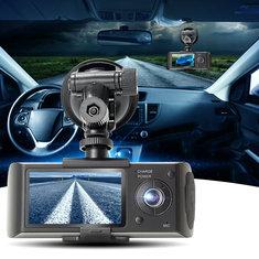 GPS Dual Lens Camera HD Car DVR Dash Cam Video Recorder G-Sensor Night Vision