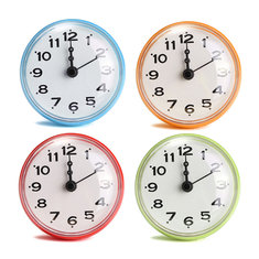 4 Color Bathroom Shower Waterproof Wall Clock Large Sucker Without Battery Home Decor