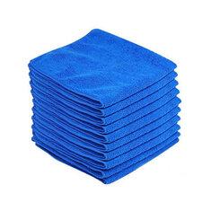 10PCS Microfiber Cleaning Cloths Washing Towel Blue for Car Polishing Wax Detailing Drying