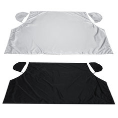 Magnetic Half Windscreen Car Cover Sun Snow Ice Frost Wind Winter Protector