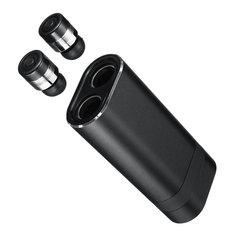 2 In 1 Wireless Dual bluetooth 4.2 Headphone TWS Stereo IPX5 Waterproof Sports In-ear Power Bank Earphone With Mic