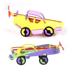 Резиновый гоночный автомобиль самолет пароходные развивающие игрушки