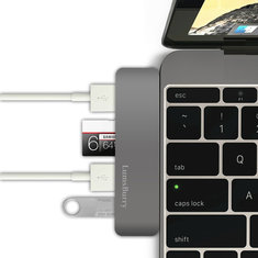 5 in 1 Type C USB Hub Adapter With 2 USB 3.0 Micro SD TF Card Reader Charging Port For Mac