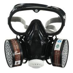 מסכת גז מסכה בטיחות כימית נגד אבק מסנן הצבאי Eye Goggle הגדר במקום העבודה בטיחות פרוטה