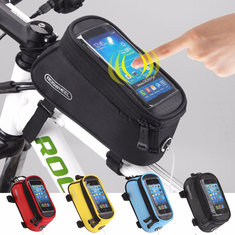 ROSWHEEL Cycling Bicycle Front Tube Touch Screen Bag For iPhone 7 Plus 6S