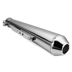 Motorcycle Cafe Racer Exhaust Muffler Pipe with Sliding Bracket Universal