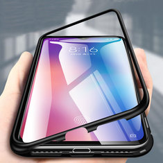 Bakeey 360° Magnetic Adsorption Metal Tempered Glass Flip Protective Case for Xiaomi Mi 9 /