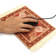 28x18cm Bohemia Style Persian Toile Rug Mouse Pad Mat For Desktop PC Laptop
