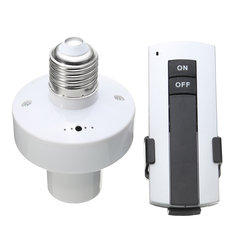 E27 Screw Wireless Remote Control Lamp Bulb Holder Switch Cap Light Socket