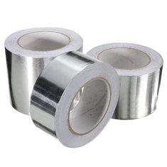 50m Aluminum Foil Conductive Tape EMI Shielding Duct Insulation Self Adhesive Tape 3 Widths