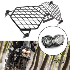Black Motorcycle Headlight Grille Light Cover Protective Guard Protector For Triumph Tiger 800 2010-2017 Explorer 1200 2012-2017