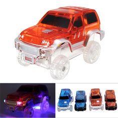 Christmas Racing LED Electric Car Glowing Toys For Magical Glow In The Dark Track For Kids Gift
