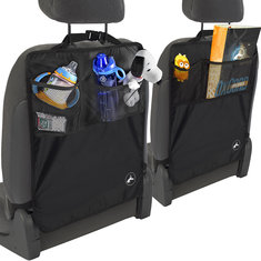 Universal Car Back Seat Kick Mat Protector Cover Kid Keep Clean With Storage Bag