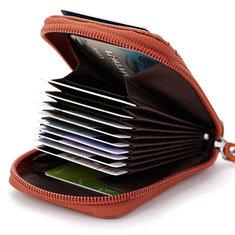 Men Women Leather Capacity Card Holder Portable Coin Bag