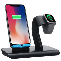 Type-C Port 2 In 1 Qi Wireless Charger Phone Holder Watch Holder For iPhone Samsung Apple Watch Series