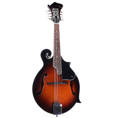 Classic Sunburst F Modle 24 Frets 8 String Paulownia Wood Mandolin With Case