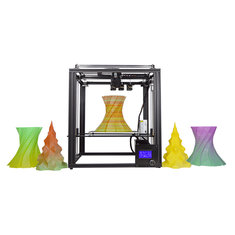 Zonestar® Z9M3 3-in-1-out Mixed Color Full Metal 3D Printer 300*300*400mm Printing Size With Three Extruder/Auto Mixing Color Engine/Auto-Leveling/Offline Printing/3.5inch LCD Screen