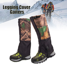 1 Pair Camouflage Waterproof Outdoor Climbing Hiking Snow Gaiters Leg Cover Boot Legging Wrap