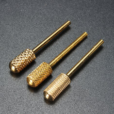 2.35mm Gold Tungsten Steel Nail Drill Bit Electric Machine Tool Manicure Grinding Polish