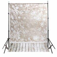 1.5x2.1m Photography Vinyl Background Snow Scenery Snowy Shading Halo Christmas