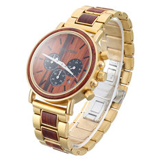 BOBO BIRD Luxury Wooden Men Quartz Watch