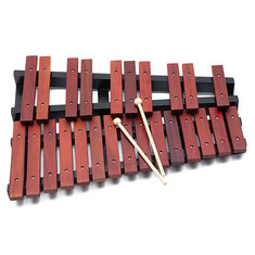 25 Notes Wooden Xylophone Percussion Educational Gift with 2 Mallets