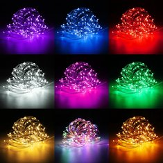 20M IP67 200 LED Copper Wire Fairy String Light for Xmas Party Decor