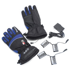 Rechargeable Heated Gloves 2000mAh Duplex Waterproof Battery Powered Winter Warm