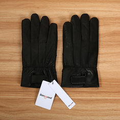 Bang good Leather Full Finger Gloves Winter Warm Motorcycle Driving