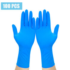 100Pcs Disposable Gloves Isolate Prevent Gloves Waterproof PVC Nitrile Synthesis Latex Comfortable Gloves