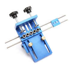 Aluminum Alloy Pocket Hole Jig Dowelling Jig Set Wood Dowel Drilling Position Jig Woodworking Tool