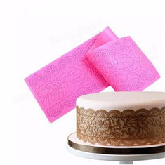 Silicone Cake Lace Mats Mold Fondant Cake Decorating Tools Wedding Flower Embossing Mould
