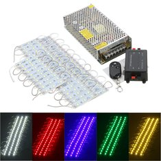 50PCS 5 Colors SMD5050 LED Module Store Strip Light Front Window Lamp + Power Supply + Remote DC12V
