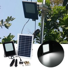 Solar Powered 120 LED PIR Motion & Light Sensor Flood Light Waterproof Outdoor Garden Security Lamp